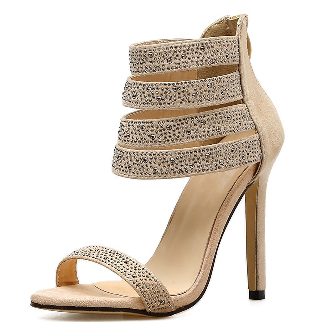 0885952154f86 Heels Damen Super High Mode Stiletto Goldgod WD29HEI