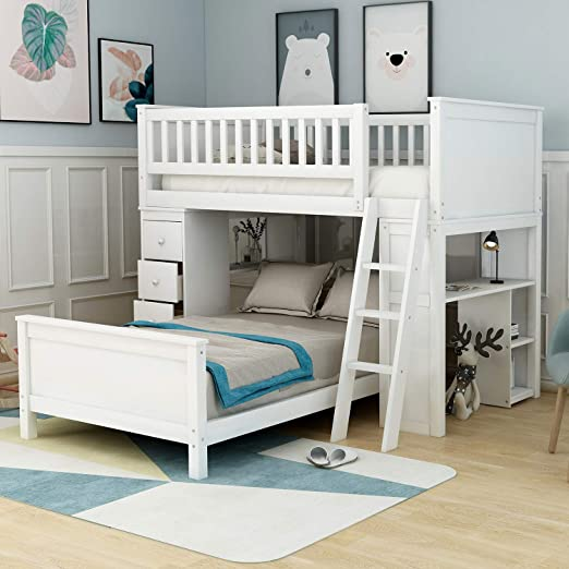 Amazon Com Twin Over Twin Bunk Bed For Kids Loft System Twin