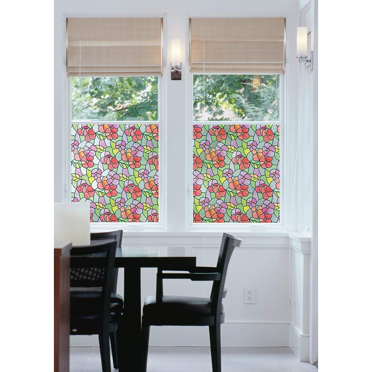 Pansies Red DC Fix 338-0017 Static Cling Window Film