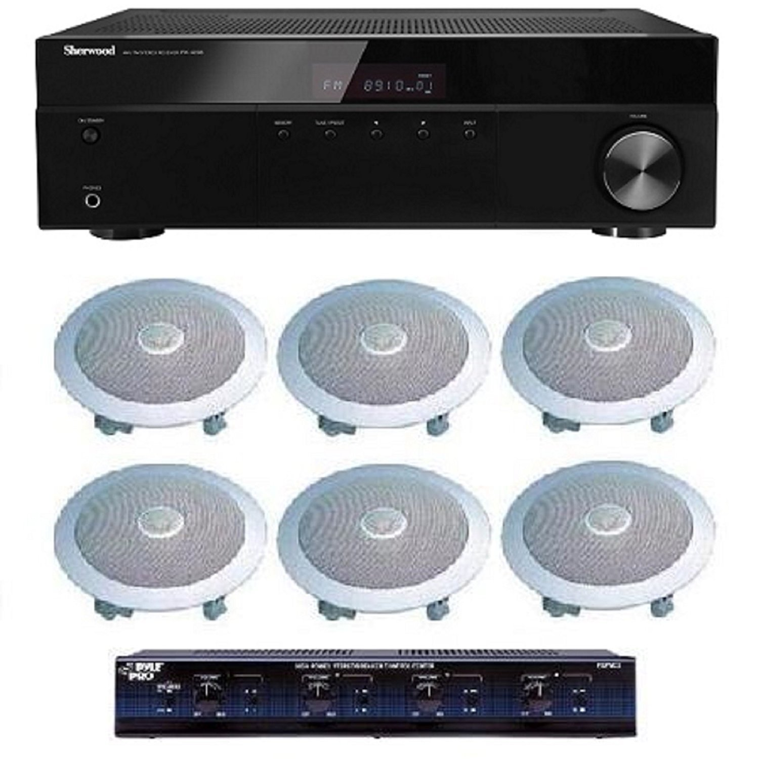 Distributed Home Audio Whole House Sound System- Ceiling Speakers