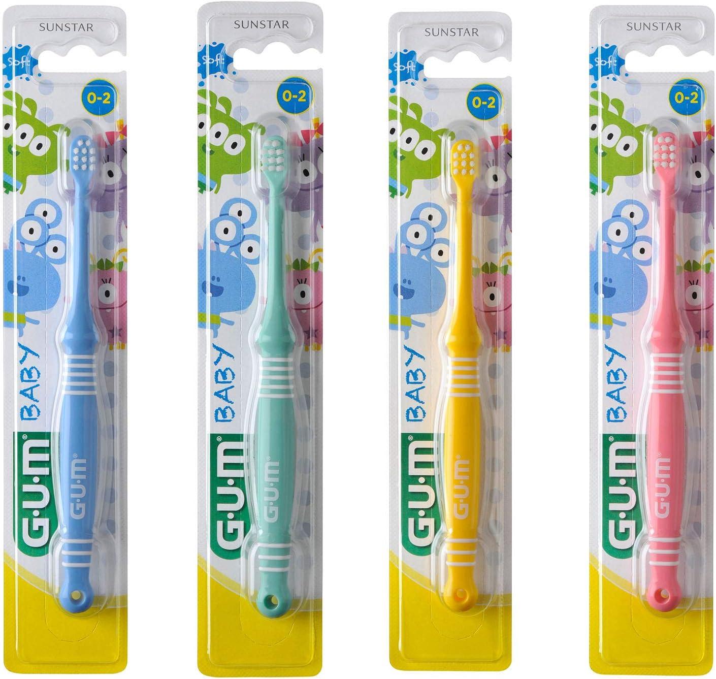 Gum Baby Monster cepillo de dientes infantil, Paquete de 12 (12 x 1 pieza)