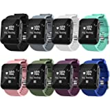 Watch Bands Compatible for Garmin Forerunner 35 Bands, Soft Silicone Sports Replacement Wristbands Strap for Garmin Forerunne