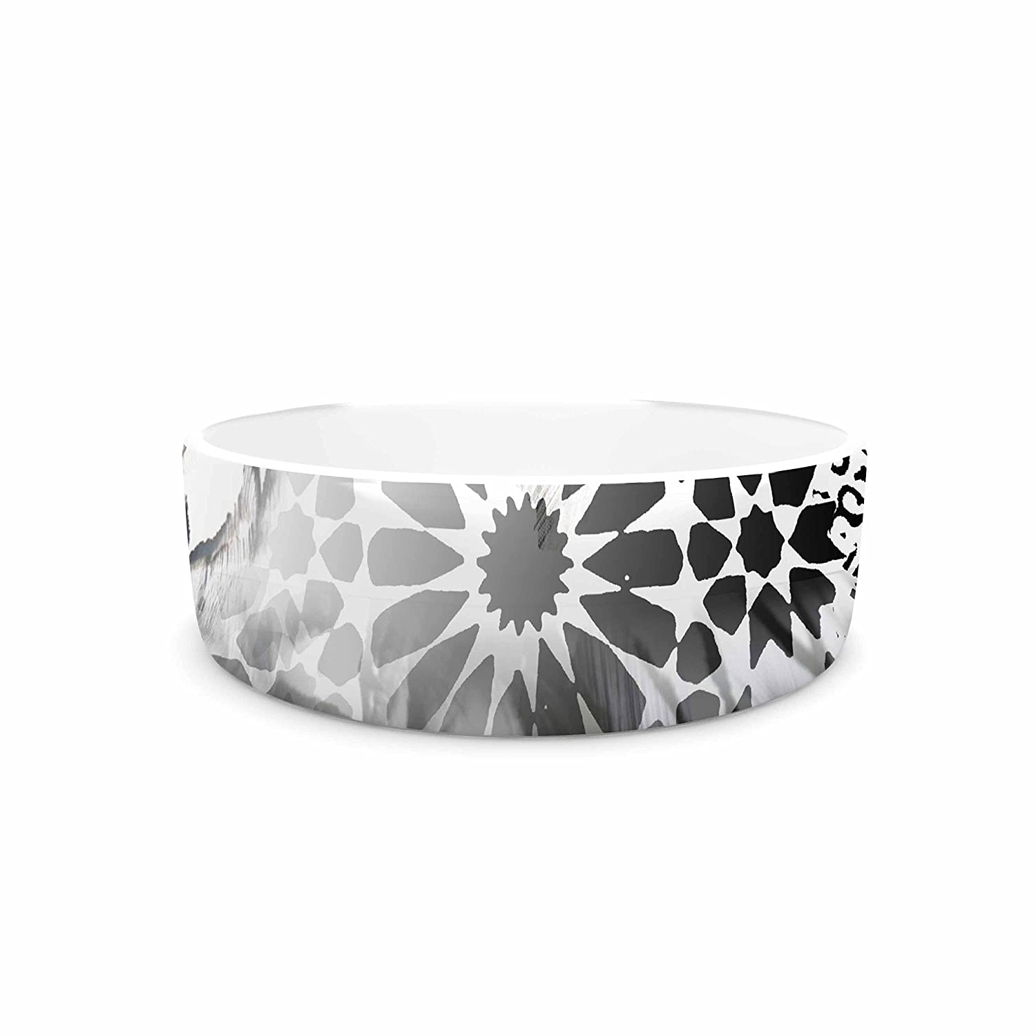 KESS InHouse Victoria Krupp Out of Mgoldcco  Black Abstract Pet Bowl, 7