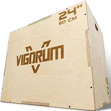 Cajón pliometrico de madera - step fitness de fácil montaje y alta durabilidad – Caja crossfit redondeada para un esfuerzo máximo totalmente seguro: Amazon.es: Deportes y aire libre