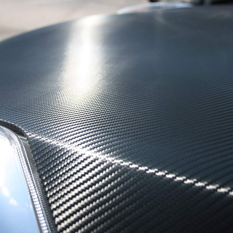 Uteruik 3D Carbon Fiber Vinyl Film Wrap-Black 20 x 150 cm Foglio