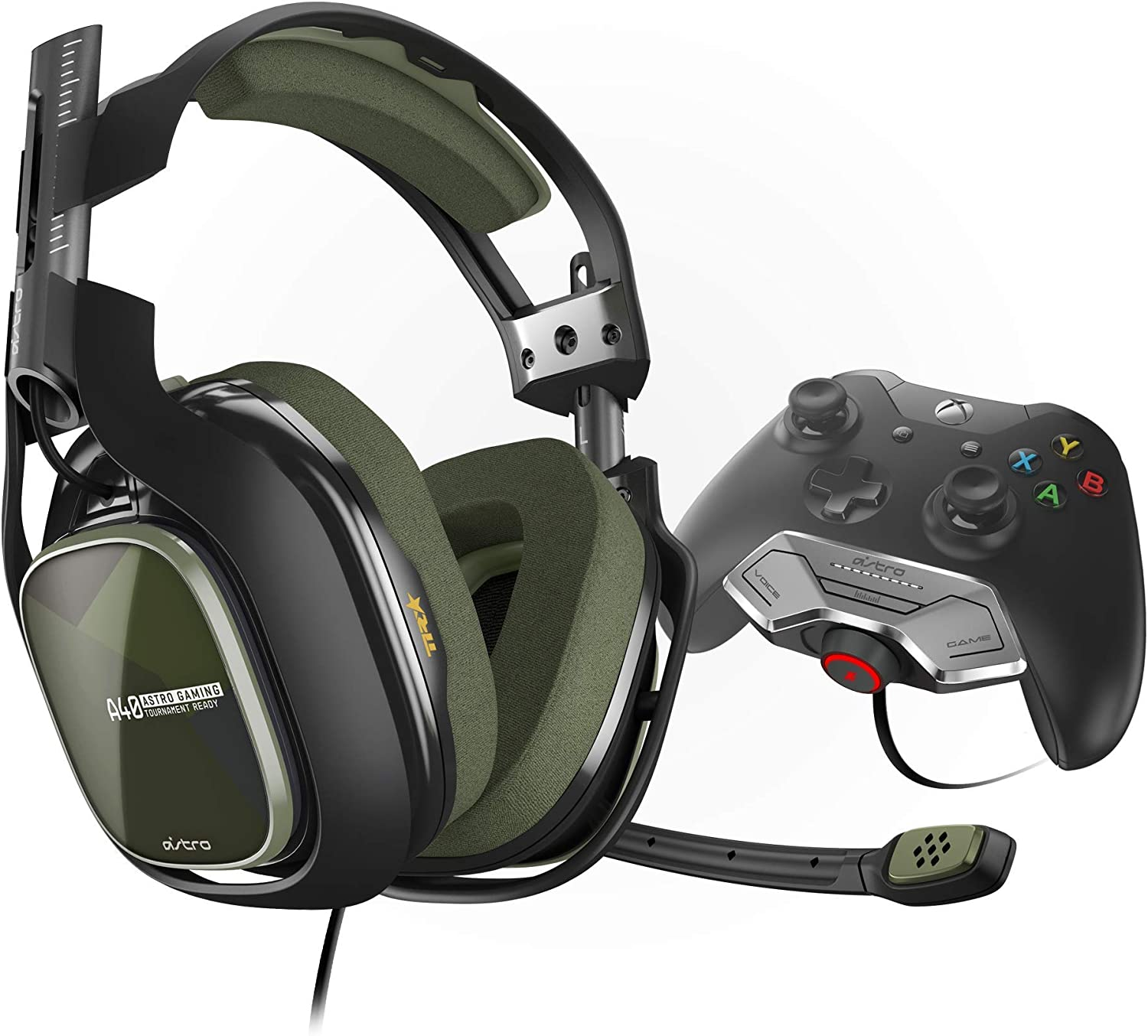ASTRO Gaming A40 TR Gen 3 Wired Gaming Headset with Controller Mounted MixAmp M80 for Xbox One GreenBlack