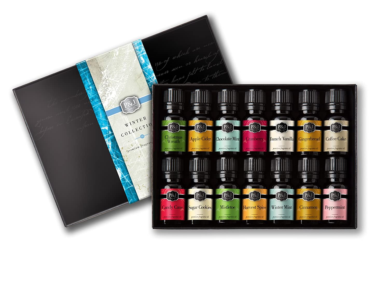 Winter Set of 14 Premium Grade Fragrance Oils - 10ml P&J Trading