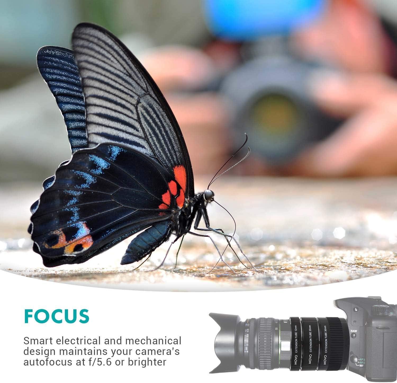 Movo Photo Af Makro Verlängerungsrohr Set Für Sony Alpha Dslr Kamera Mit 12 Mm 20 Mm Und 36 Mm Röhren Metallhalterung Baumarkt