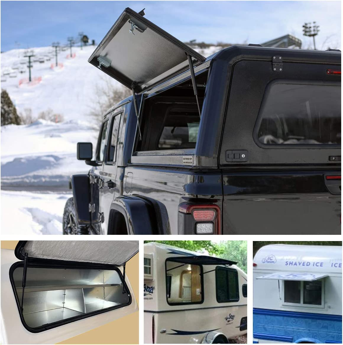 Suitable Weight: 34-50 Lbs for One Pair ARANA 15.7 inch 45lbs//200N Gas Struts Spring Shocks 16 inch 45 Pounds C16-15208 C16-22331 for ARE Topper Leer Truck Cap Camper Window Shell Door