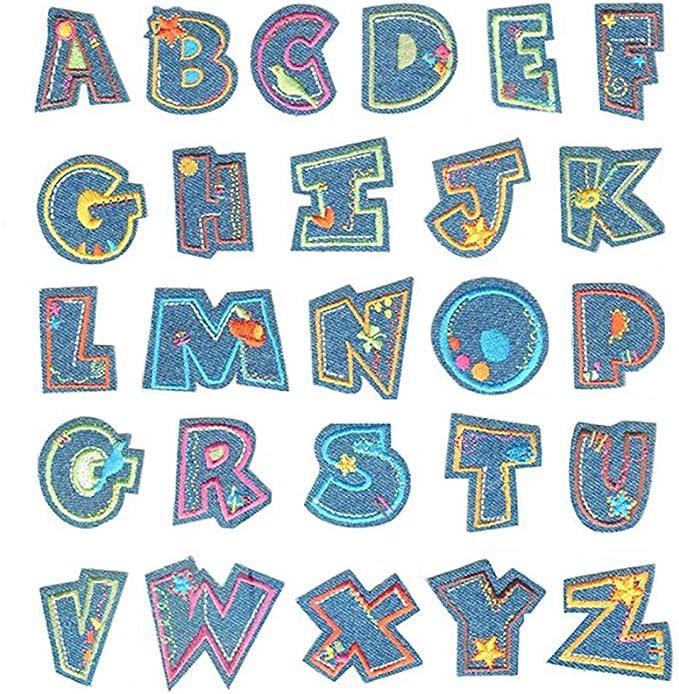 AiYoYo - Parches para Coser (26 Unidades), diseño de Letras del ...