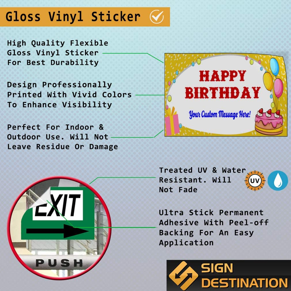Custom Door Decals Vinyl Stickers Multiple Sizes Happy Birthday Title Holidays and Occasions Happy Birthday Outdoor Luggage /& Bumper Stickers for Cars Blue 28X20Inches Set of 10