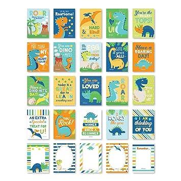 Amazon.com: 25 tarjetas de dinosaurio para el almuerzo ...