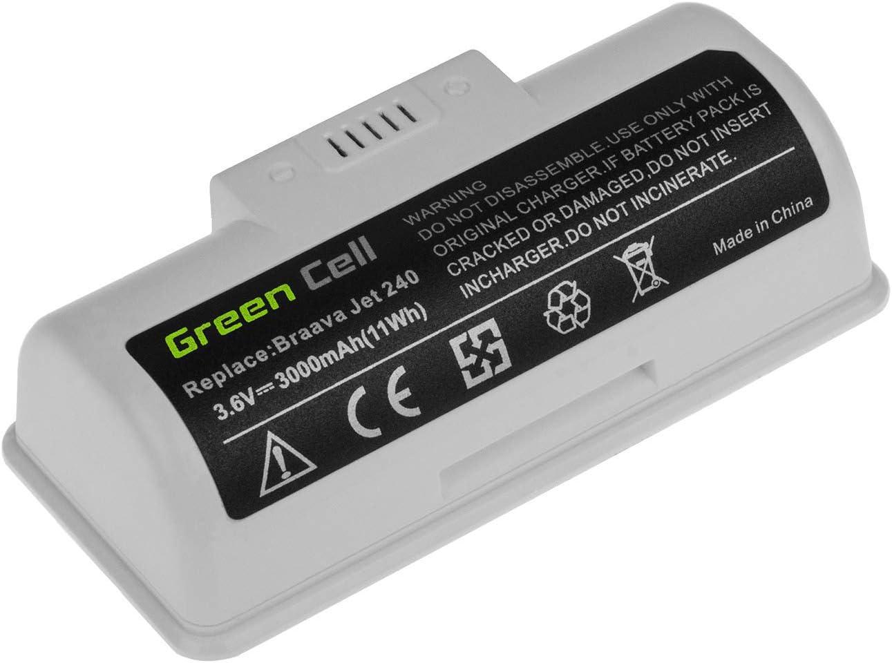 GC/® Bater/ía para iRobot Braava Jet 240 de Aspirado 3Ah 3.6V Li-Ion Pile