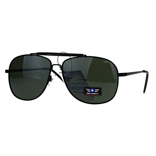 f7fa9793870 Amazon.com  Air Force Sunglasses Vintage Square Aviator Metal Frame ...