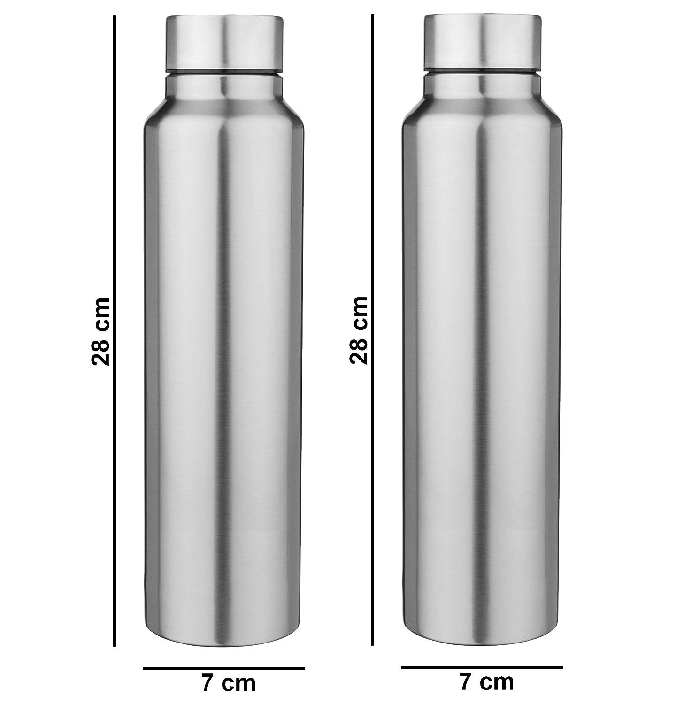 06f4cba18b4 Rema - 2 Bottle Set - 1000Ml Stainless Steel Bottle. No Plastic. 100% Steel  Bottle. 1 Litre Each