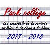 Pack Collège remisé 36 fournitures scolaires 2017/2018