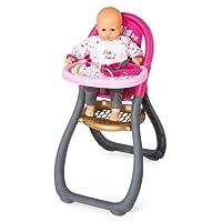 Smoby - 220310 - Baby Nurse - Chaise Haute Poupon - + 2 Accessoires Inclus