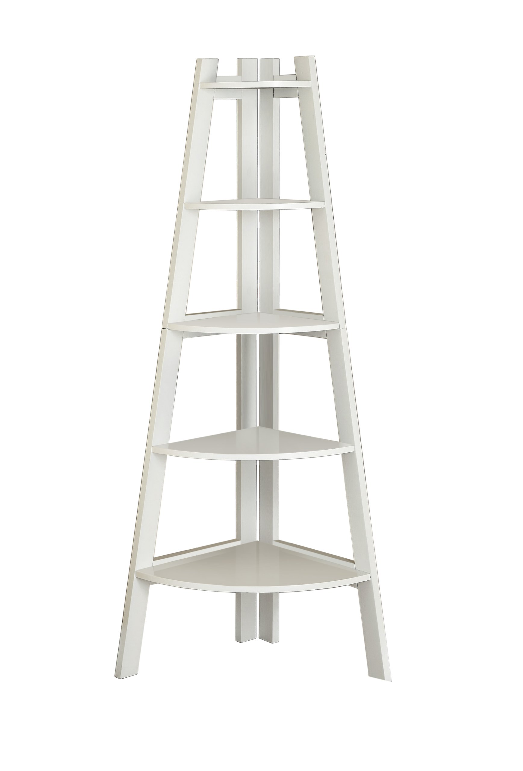 Furniture of America Andrea 5-Tier Corner Bookshelf, White by Furniture of America (Image #1)