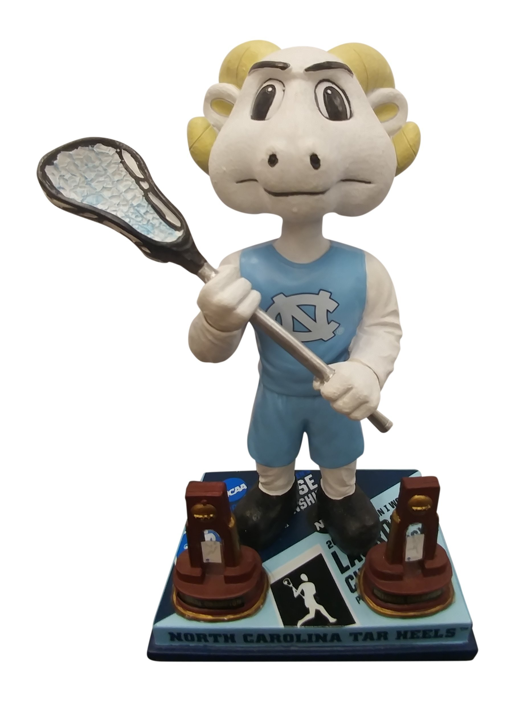 University of North Carolina UNC 2016 Men's and Women's Lacrosse National Championship Bobblehead HOF Exclusive - Numbered to 180