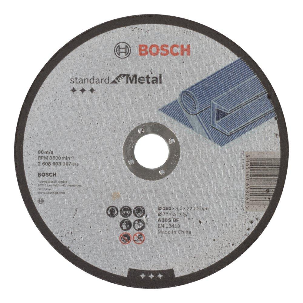 grau 2608603168 22,23/mm 3,0/mm flach Standard Bosch Trennscheibe f/ür Metall A 30/S BF