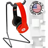 String Swing Headphone Stand - Headset Holder for Mpow Beats Bose JVC and Sony - Hangs any sized Over Ear Headphones - Universal Mount for any Desk - Black CC59