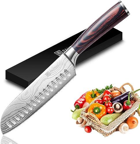 Santoku Knife - PAUDIN Super Sharp Kitchen Knife