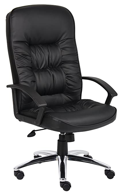 amazon com boss office products b7301c high back leatherplus chair