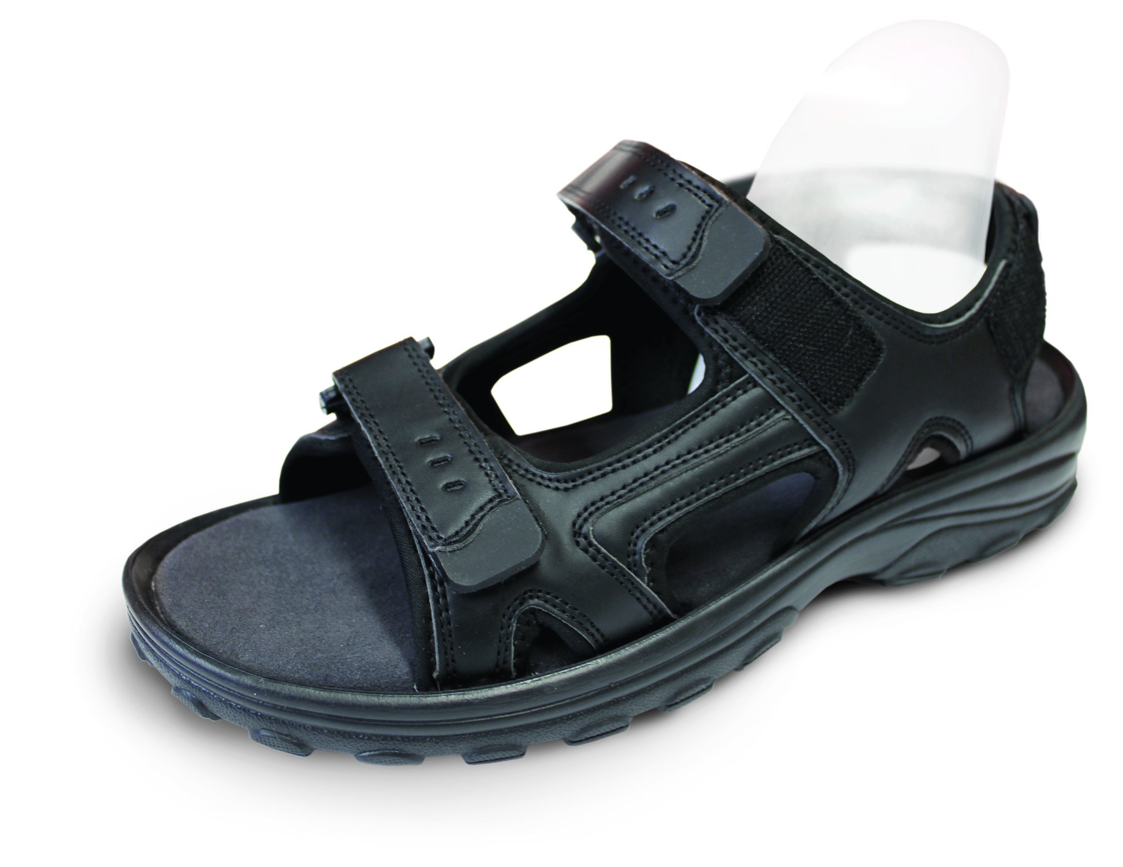 Travel Feet Power Lift Full Length Insole Pad & Arch Support Orthotic Attached w/Bonus Jandalmate (5M11.5)