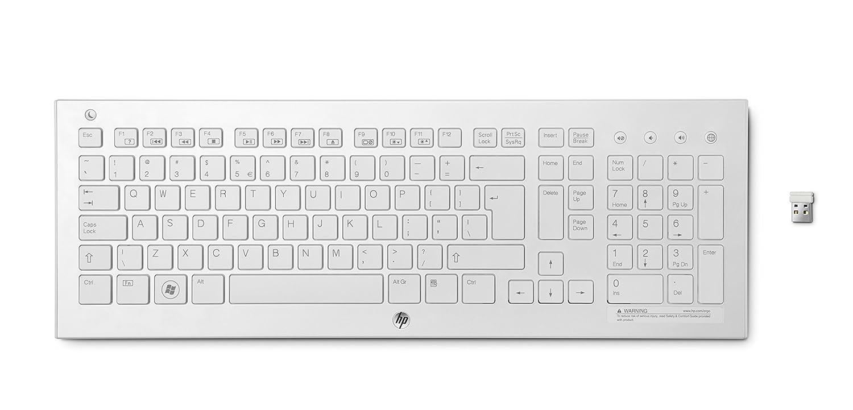 HP K5510 - Teclado inalámbrico (USB), blanco, teclado QWERTY Italiano: Amazon.es: Electrónica