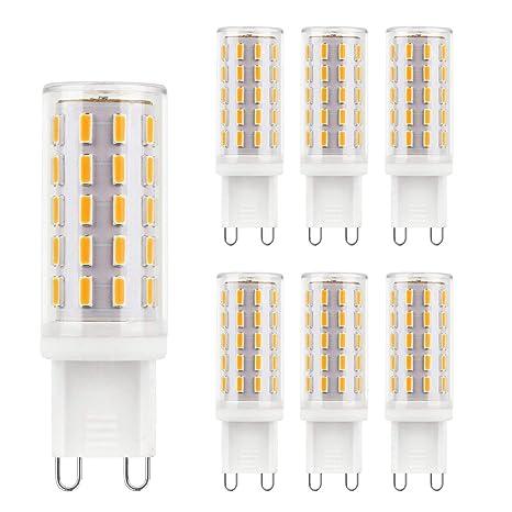 G9 bombillas LED blanco cálido 2700K sin parpadeo sin estroboscópico 4W equivalente a bombillas halógenas de