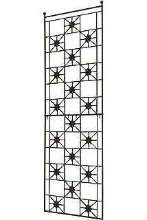 64 x 24 Matte Black American Garden Works STNMB Narrow Screen Trellis