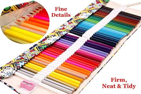 - Amazon.com: Colored Pencils Art Supplies For Kids Adults Coloring Book With  Canvas Case Roll Up Wrap Bag And Sharpener Set: Toys & Games
