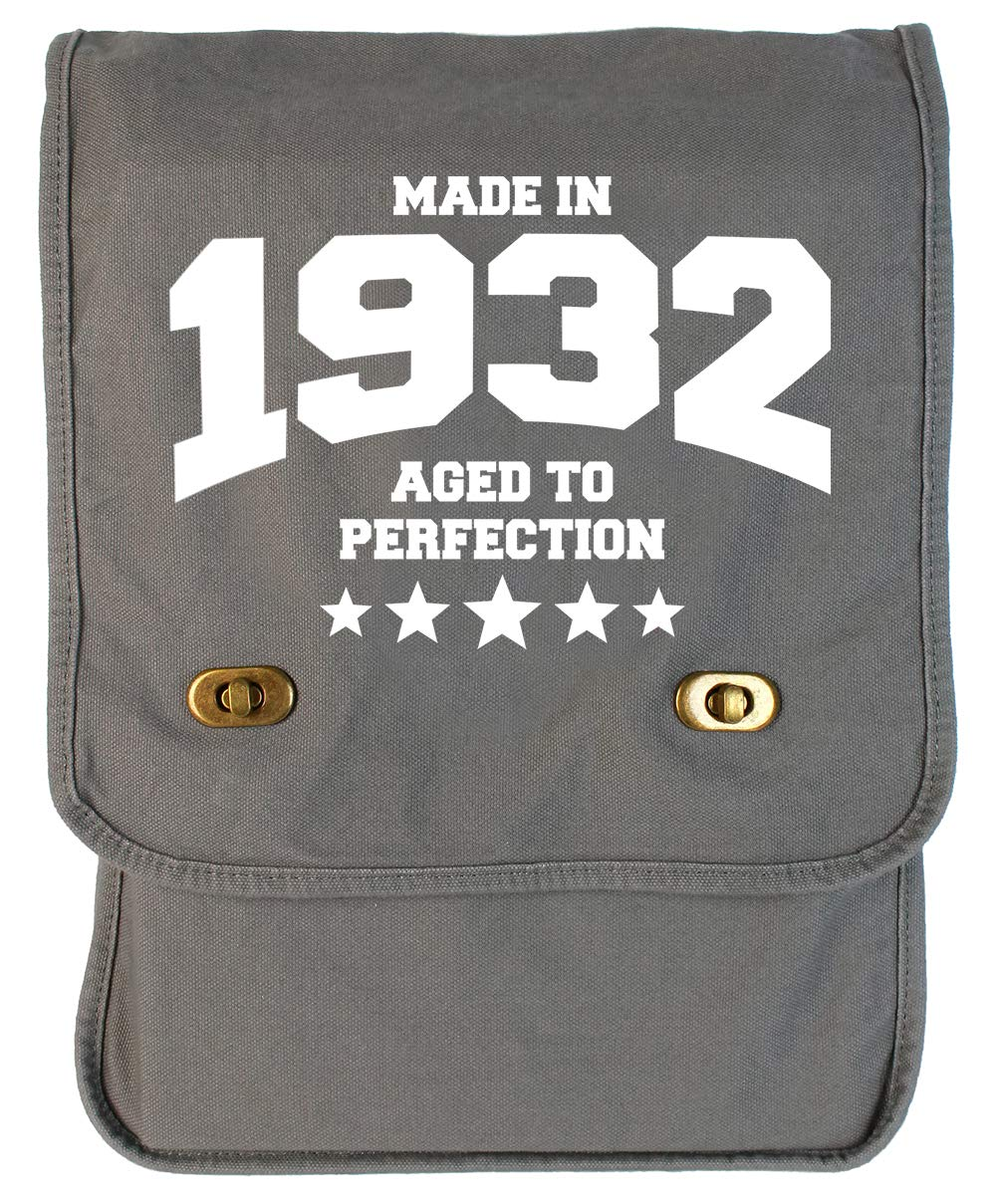 Tenacitee Athletic Aged to Perfection 1932 Grey Brushed Canvas Messenger Bag
