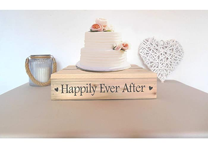 14 Square Wooden Rustic Wedding Cake Stand Amazon Co Uk