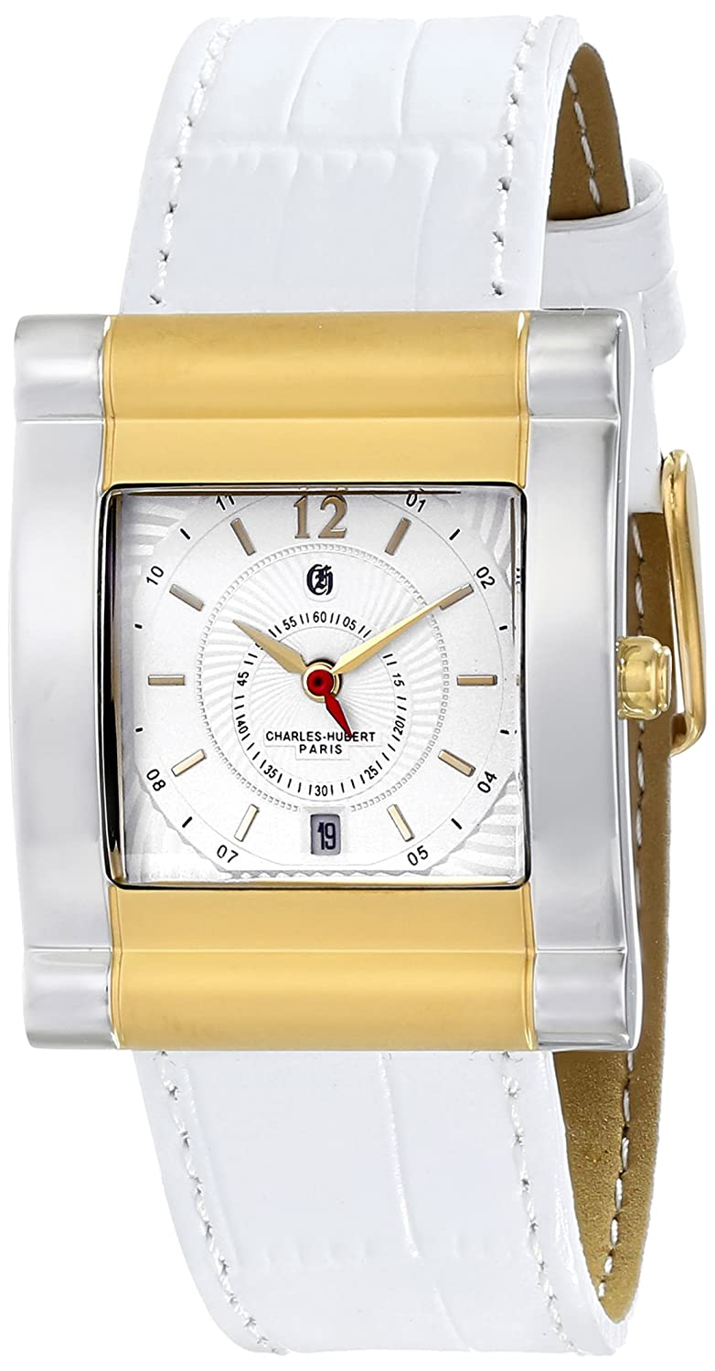 Charles-Hubert Paris Damen 6841-T Premium Collection Analog Display Japanese Quartz White Armbanduhr