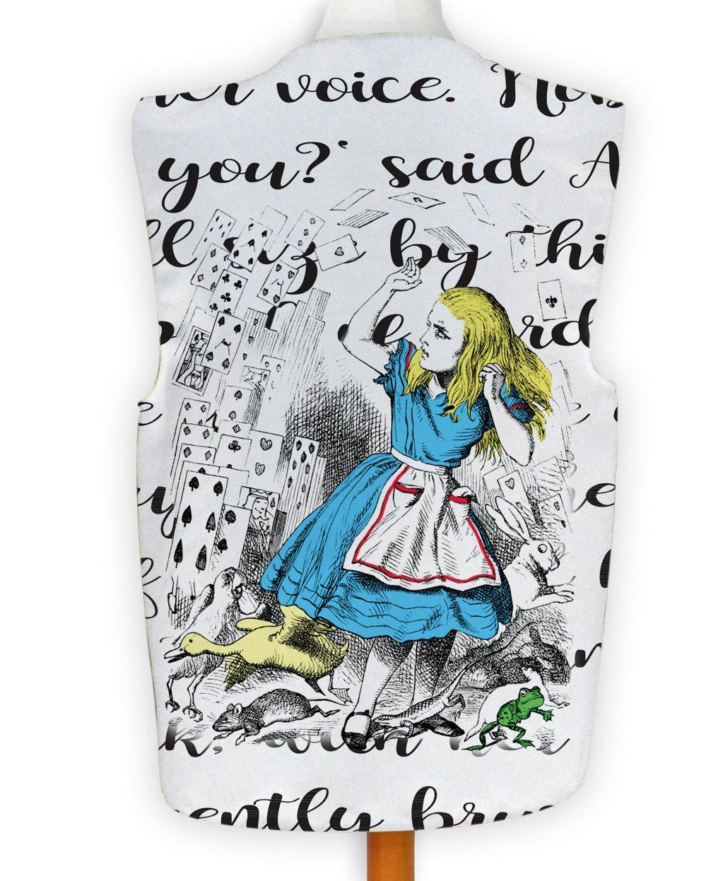 Novelty Waistcoat Fun Fancy Dress Informal Alice in Wonderland White Rabbit