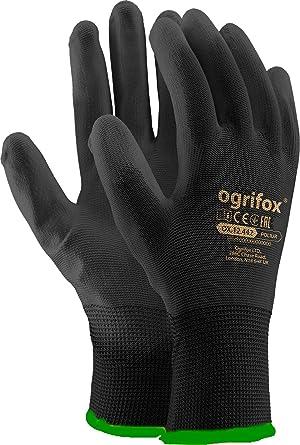 24 pares nueva negro revestimiento de seguridad guantes de trabajo jardín Grip para hombre constructores jardinería: Amazon.es: Industria, empresas y ciencia