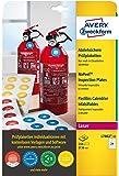 Avery España L7802-10 - Pack de 240 etiquetas adhesivos redondos de inspección, imprimibles, no despegables