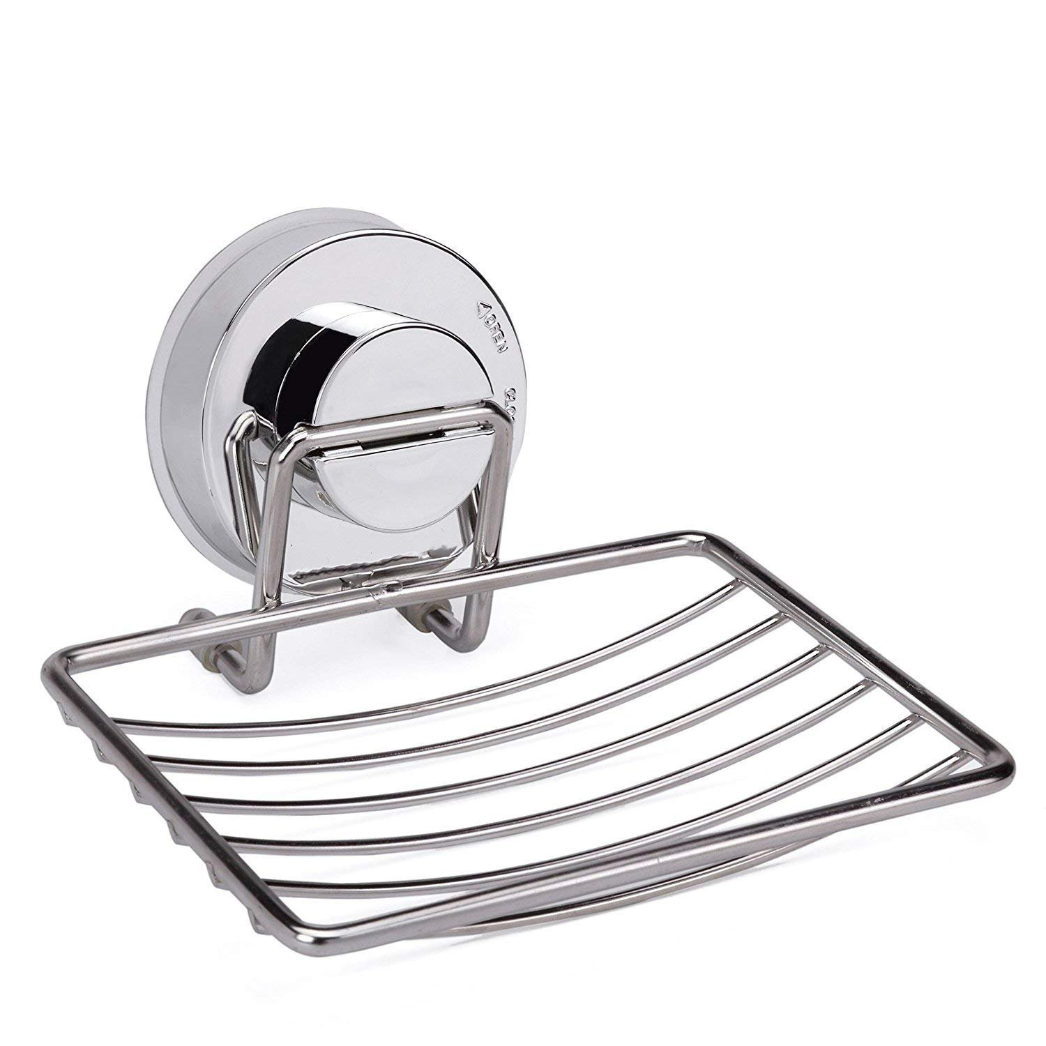 Kytree Suction Soap Dish Holder for Shower Bathroom Tub and Kitchen Sink Stainless Steel Bar Soap Holder Saver Tray