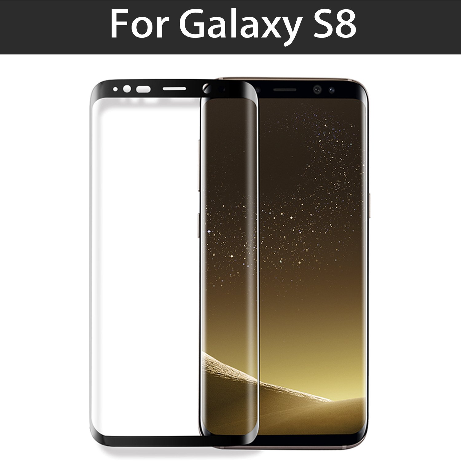 Galaxy S8 Screen Protector Beeloo Ultra Thin Hd Clear Full Blackberry Keyone Tempered Glass Cover Ampamp Curved Black Coverage Scratch Resistant