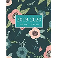 2019-2020 Academic Weekly Planner: Floral Cover | 2019-2020 Daily Weekly Monthly Planner Academic Schedule Organizer | 17-Month Calendar Large Dated Agenda Logbook | Appointment Book | August 2019 through December 2020