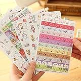 YSTD® Lovely 12 Sheet Transparent Calendar Diary Book Sticker Scrapbook Decoration (Rabbit)