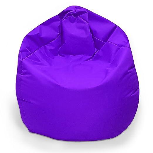 Puf XL sitzbag Color Lila con relleno cojín cojín de suelo ...