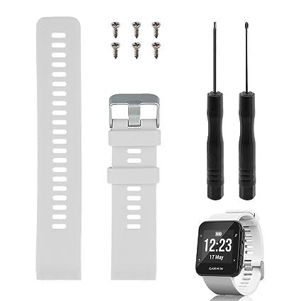 Rukoy Reemplazo de Banda para Garmin Forerunner 35, Reloj Correa de Repuesto de Silicona Suave