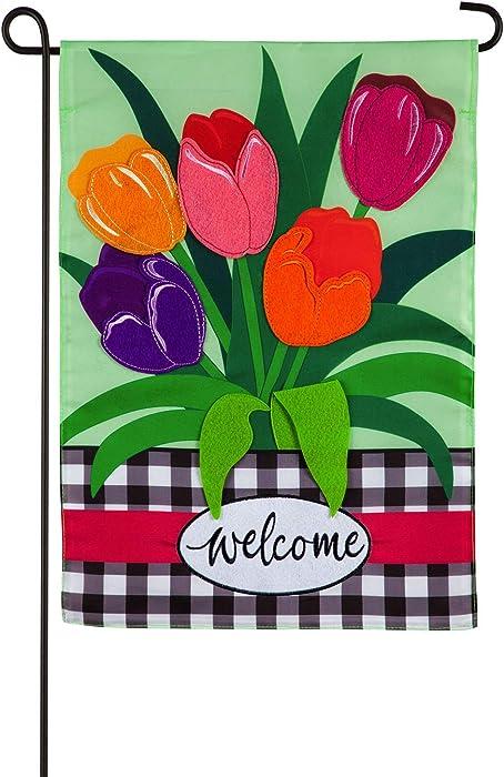The Best Evergreen Applique Garden Flags For Spring