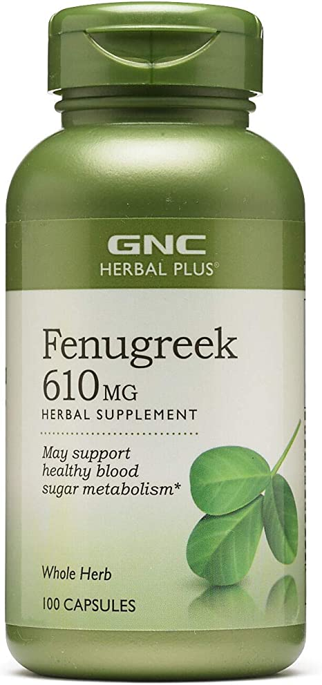 Amazon Com Gnc Herbal Plus Fenugreek 610mg Health Personal Care