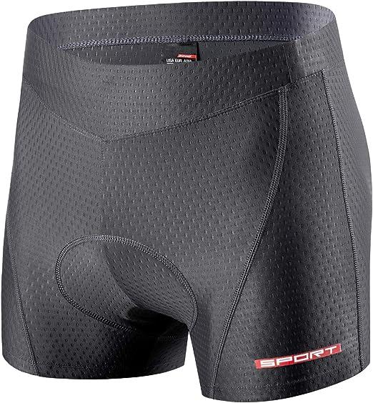 ad asciugatura rapida XGC Pantaloncini da ciclismo da donna con imbottitura in spugna 4D ad alta densit/à