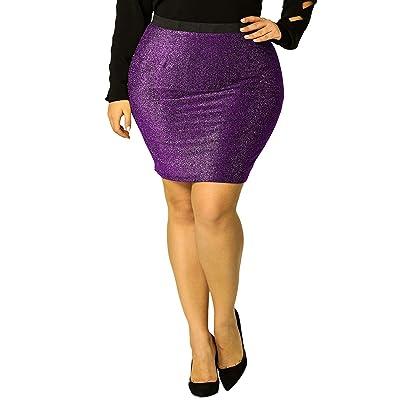 Agnes Orinda Women's Plus Size Elastic Waist Leopard Prints Mini Pencil Skirt Halloween at Amazon Women's Clothing store
