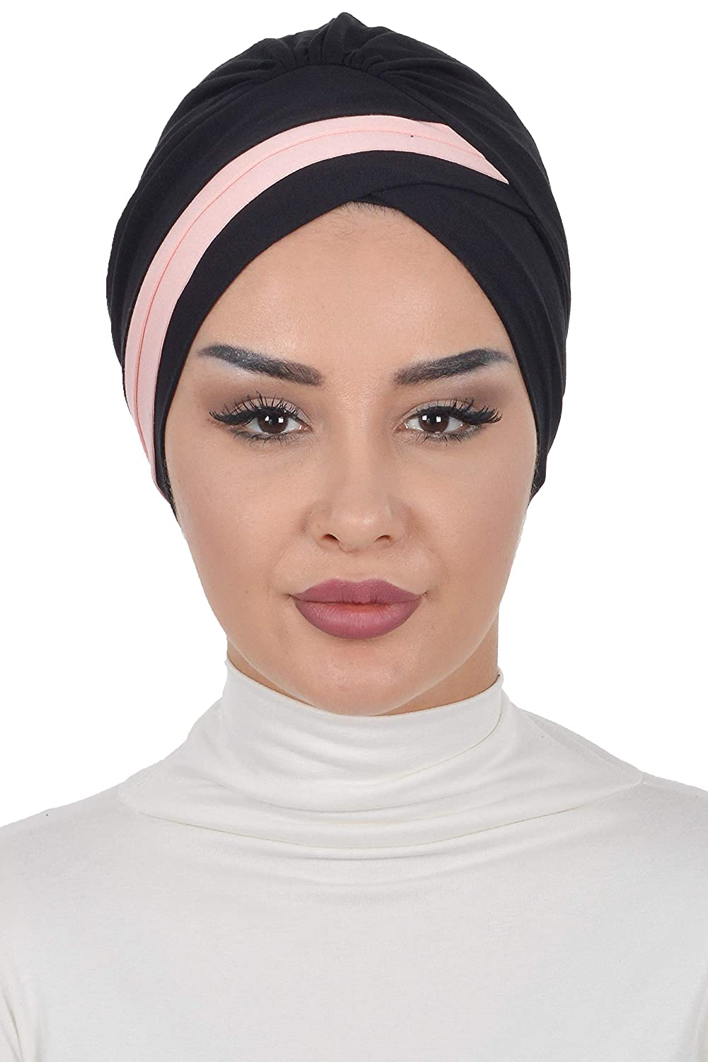 Instant Turban Cotton Scarf Head Wrap Cancer Chemo Headwear Two Colored