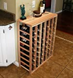 Creekside 48 Bottle Table Wine Rack (Redwood) by Creekside - Exclusive 12 inch deep design conceals entire wine bottles. Hand-sanded to perfection!, Redwood